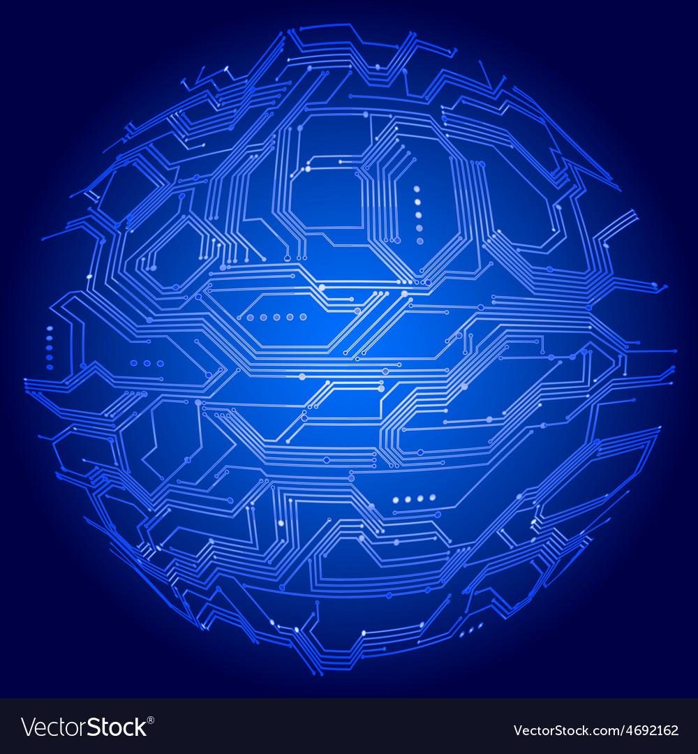 Globe circuit board vector | Price: 1 Credit (USD $1)