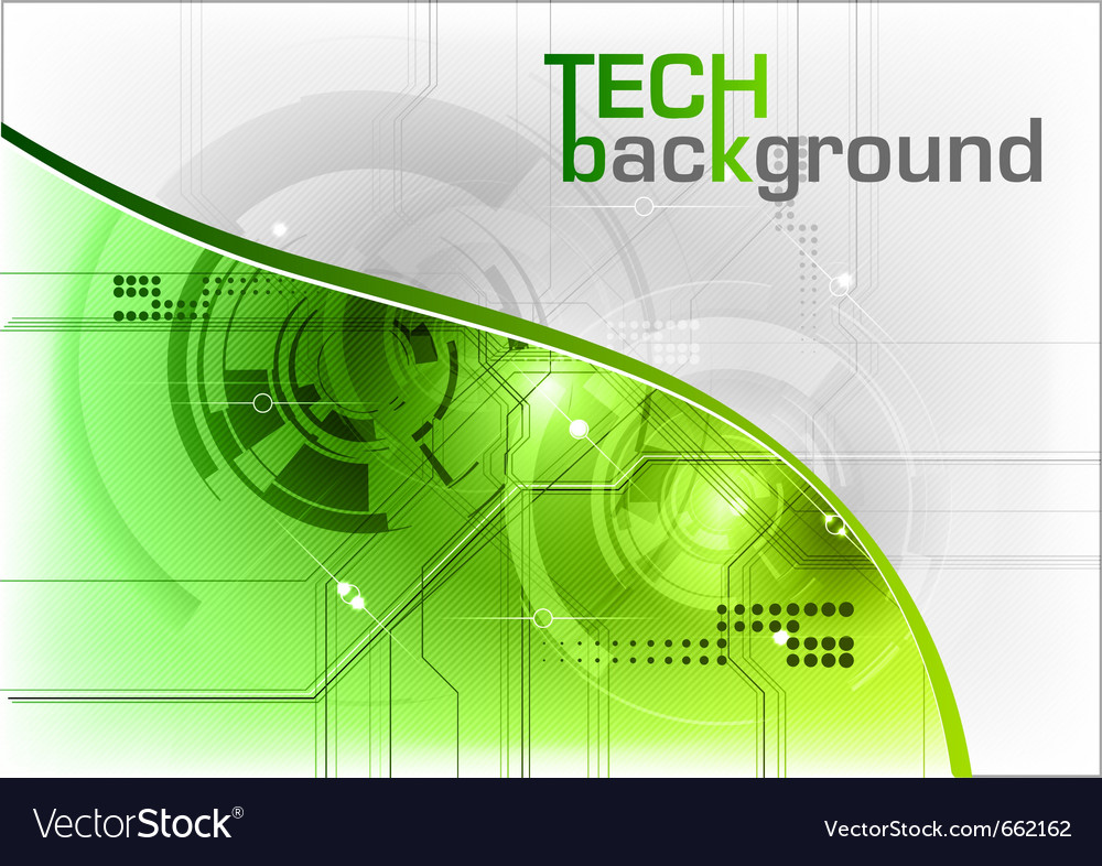 Green tech background with line vector | Price: 1 Credit (USD $1)