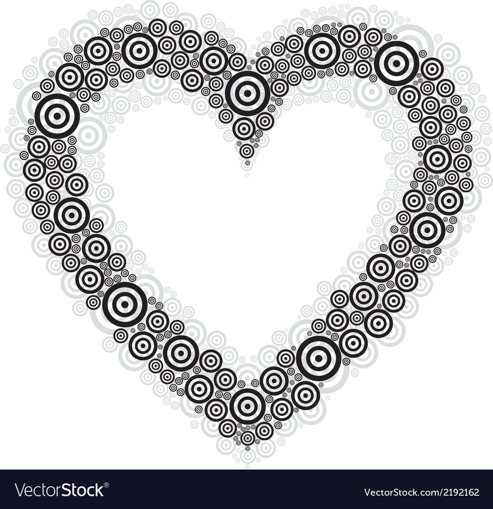 Heart black circle vector | Price: 1 Credit (USD $1)