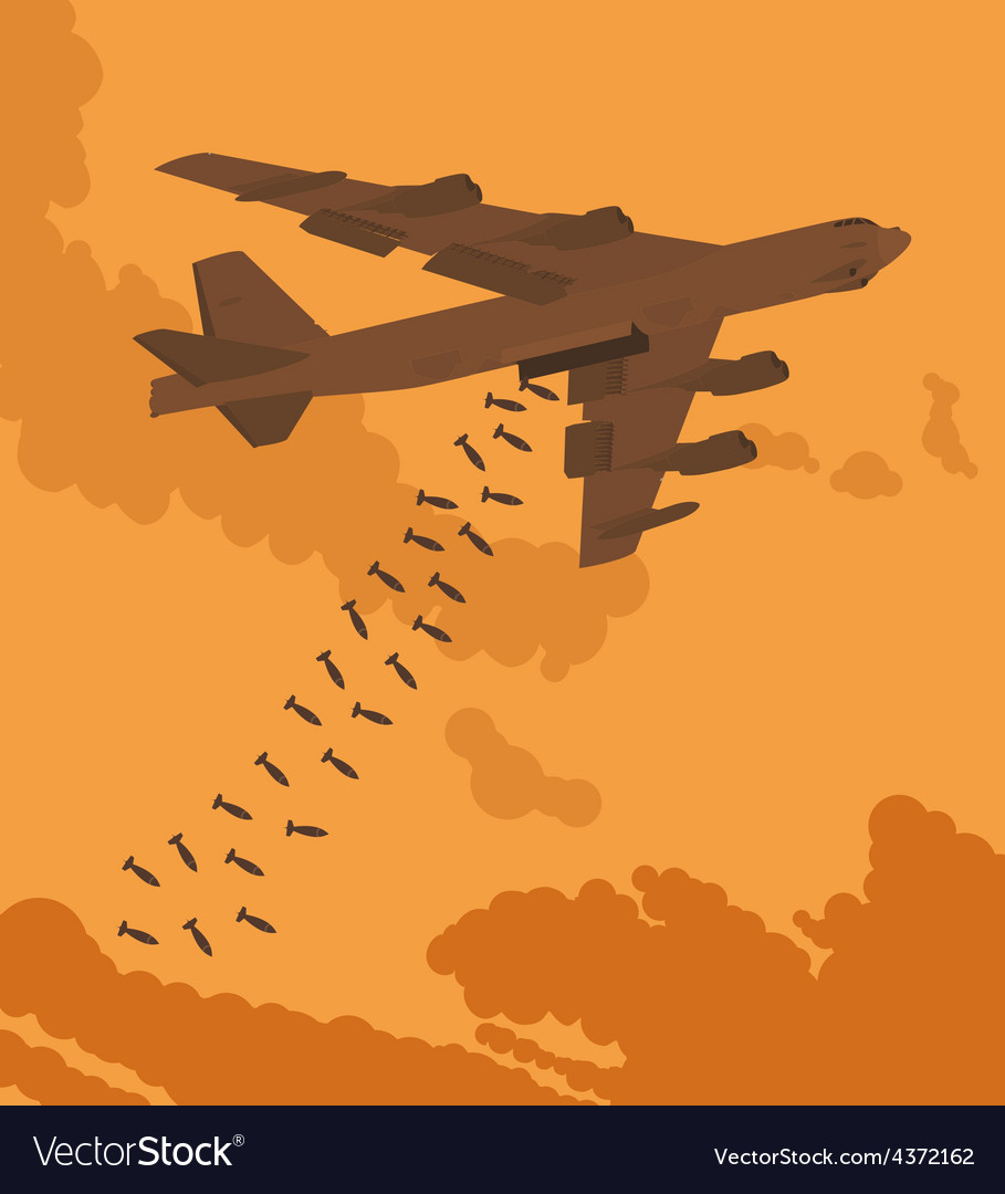 Heavy bomber dropped the bombs vector | Price: 1 Credit (USD $1)