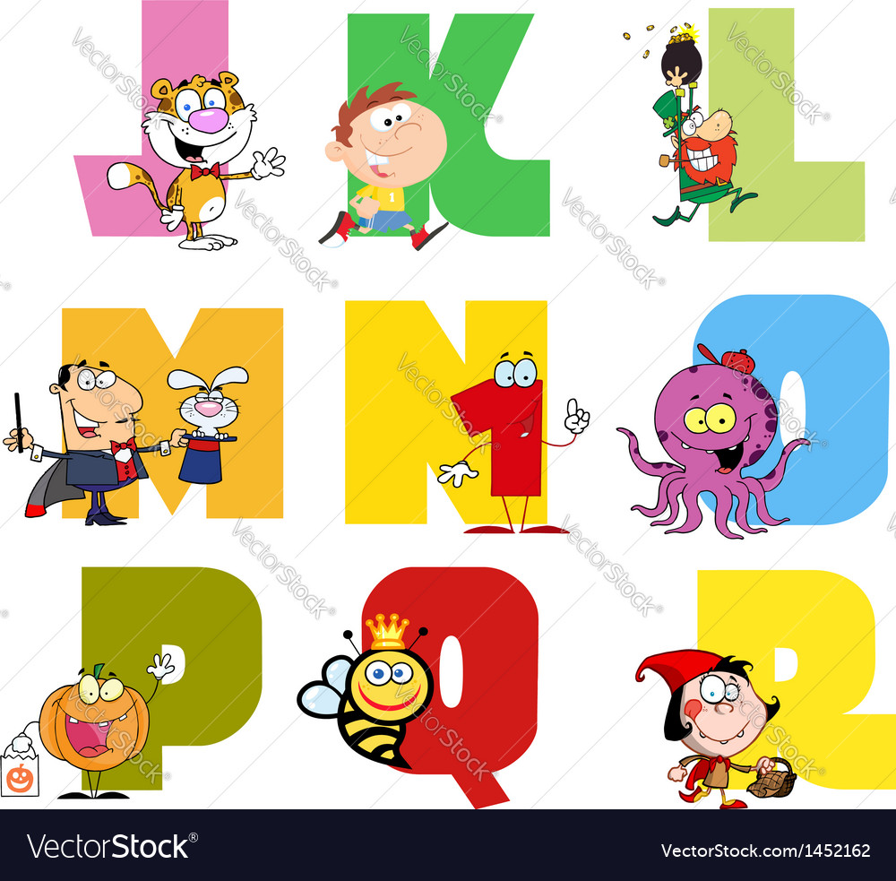 Joyful cartoon alphabet collection 2 vector | Price: 3 Credit (USD $3)