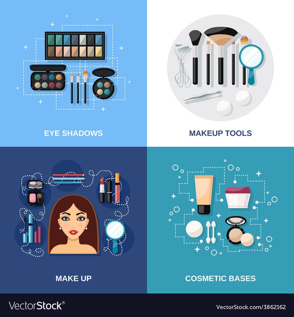 Makeup flat set vector | Price: 1 Credit (USD $1)