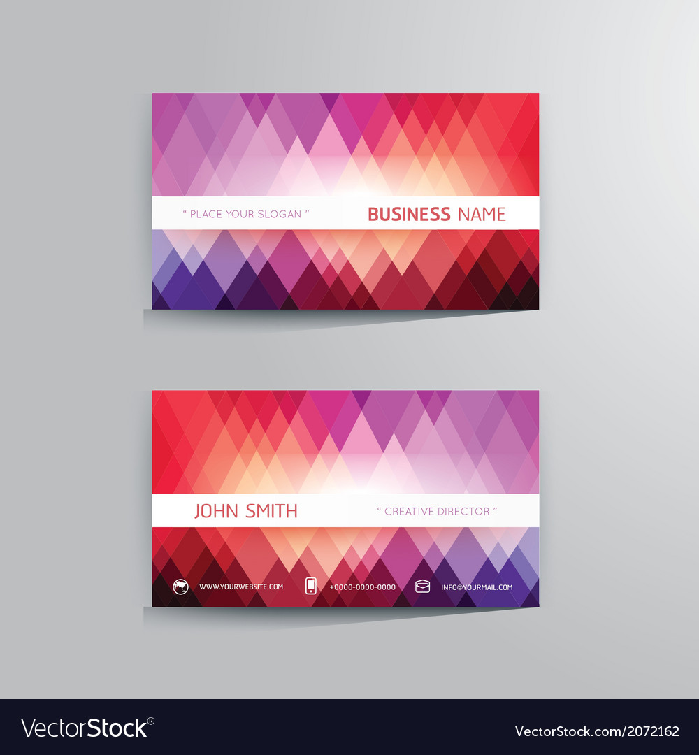 Modern creative business card template vector | Price: 1 Credit (USD $1)