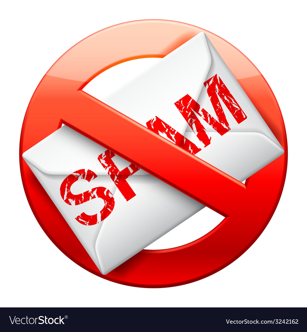 No spam sign vector | Price: 1 Credit (USD $1)