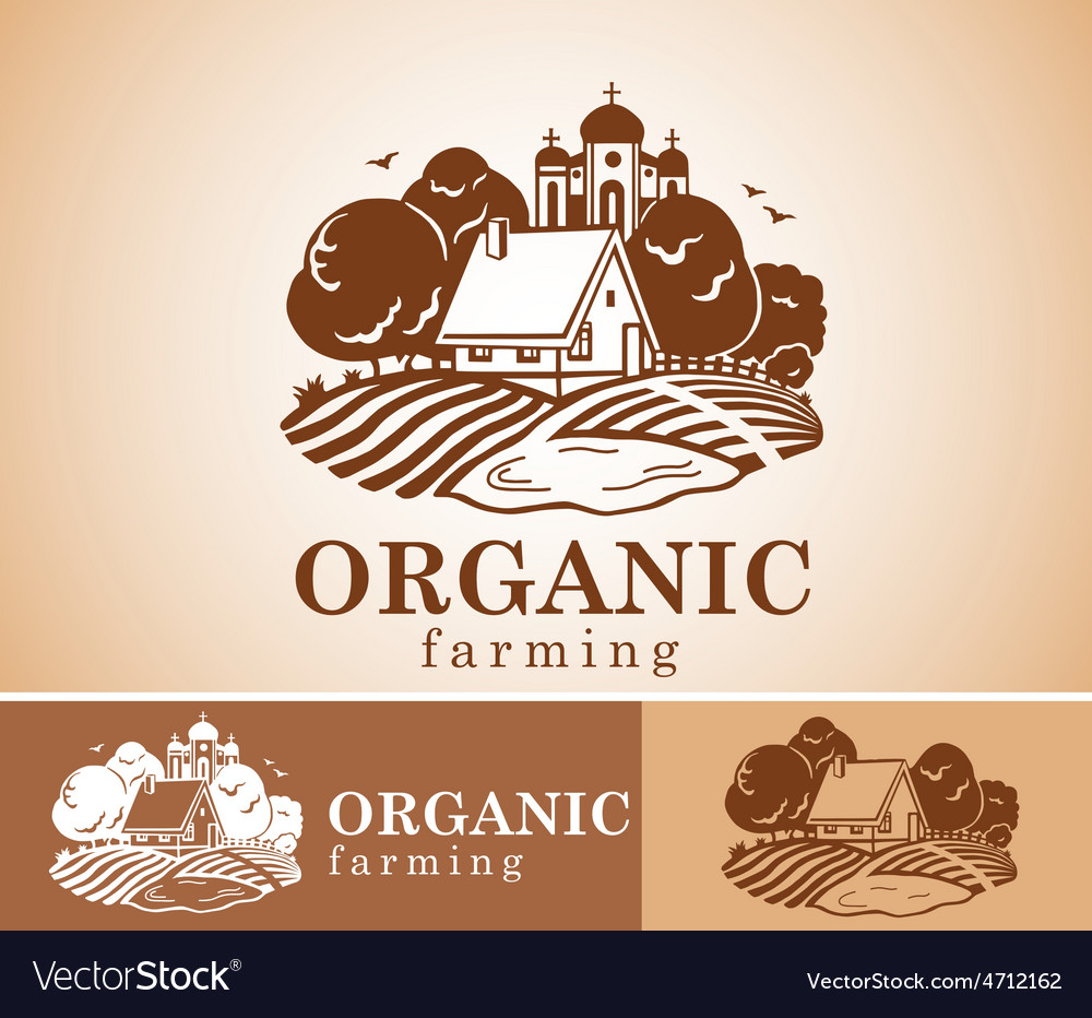 Organic farming design element vector | Price: 1 Credit (USD $1)