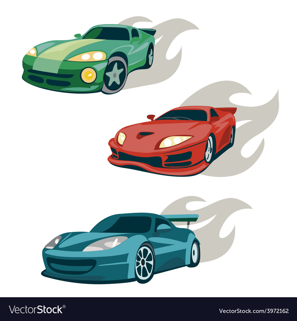Race cars vector | Price: 1 Credit (USD $1)