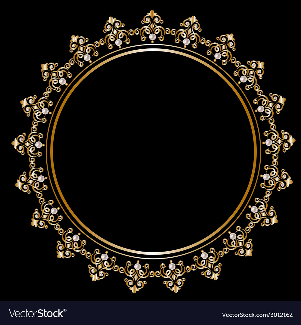 Royal golden frame vector | Price: 1 Credit (USD $1)