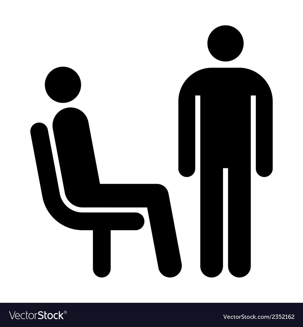 Seating and standing man vector | Price: 1 Credit (USD $1)