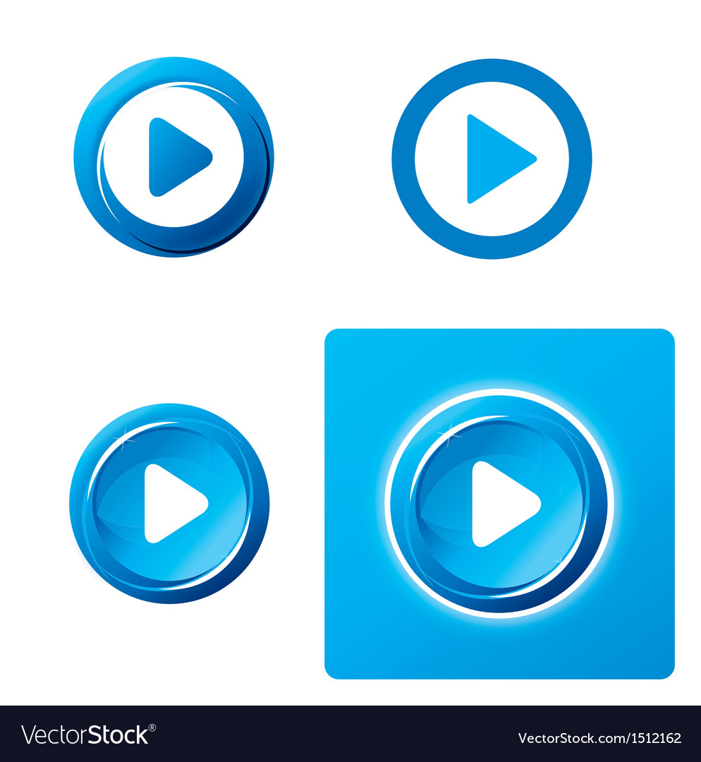 Set of play button vector | Price: 1 Credit (USD $1)