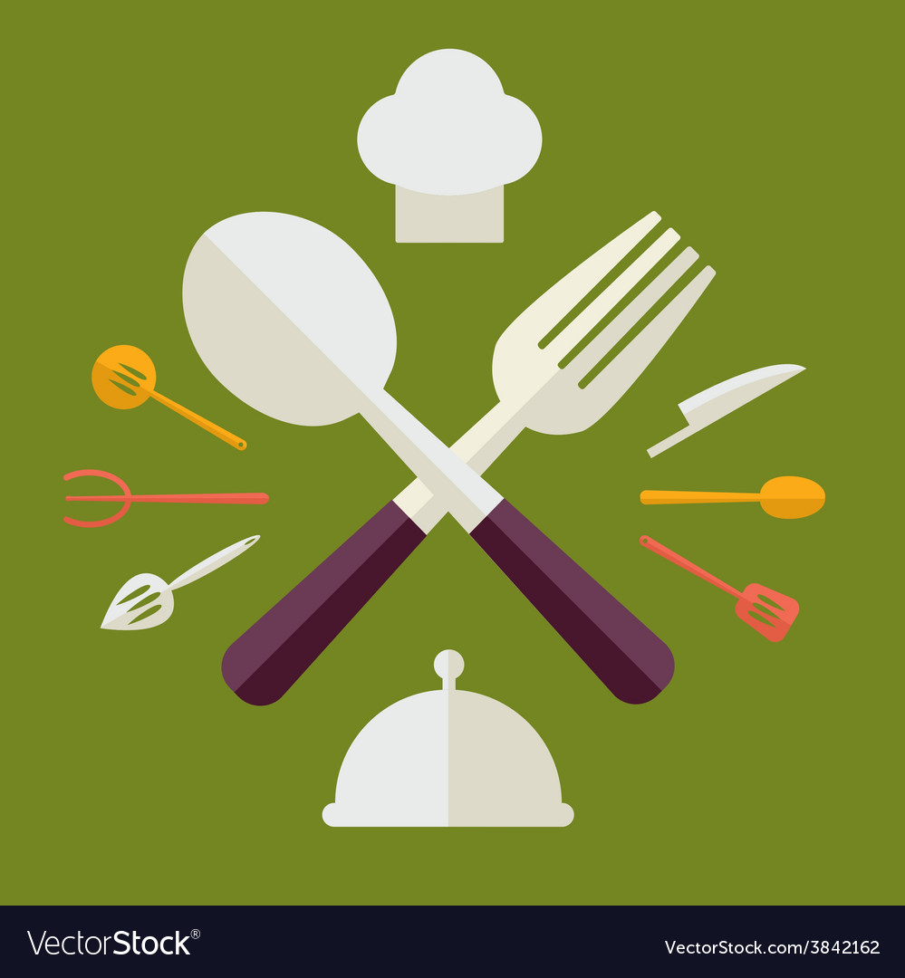 Tableware serving utensils icons set great for any vector | Price: 1 Credit (USD $1)
