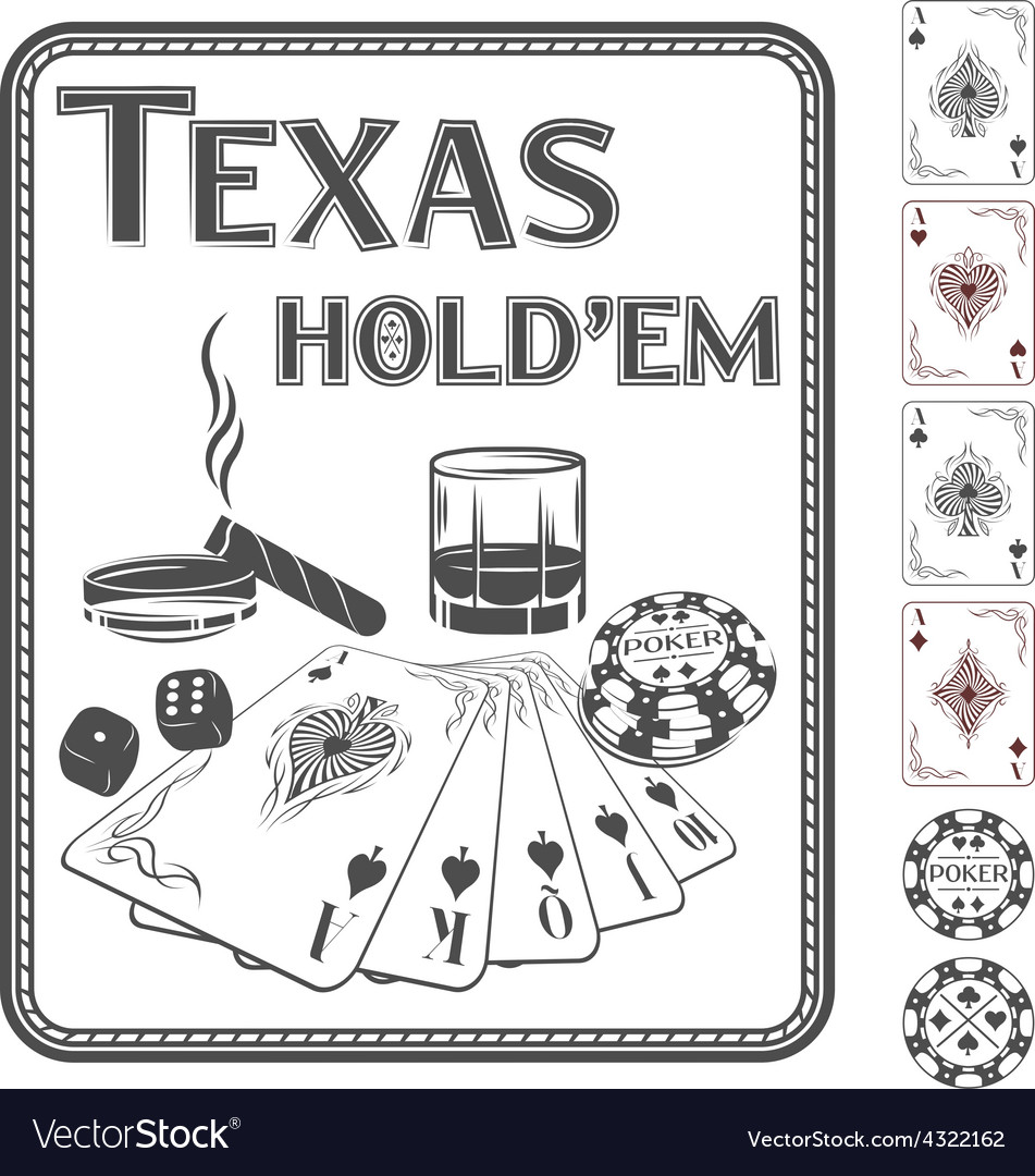 Texas hold em poker vector | Price: 1 Credit (USD $1)