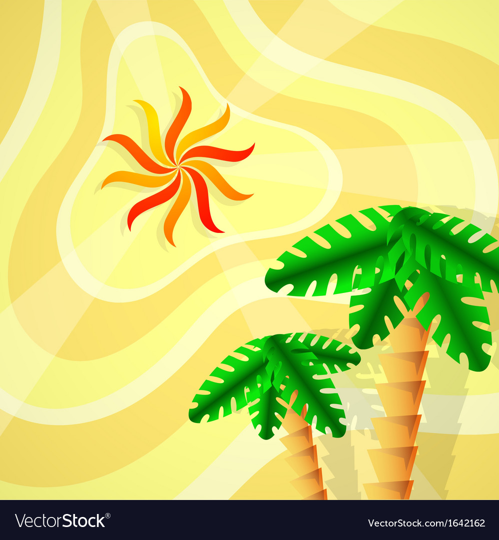Tropical setting vector | Price: 1 Credit (USD $1)
