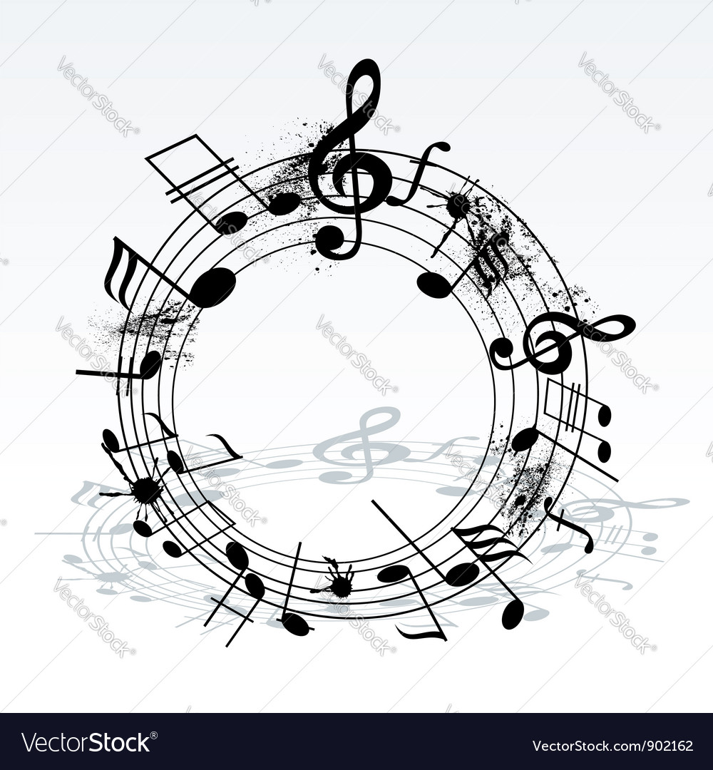 Twisted music notes vector | Price: 1 Credit (USD $1)