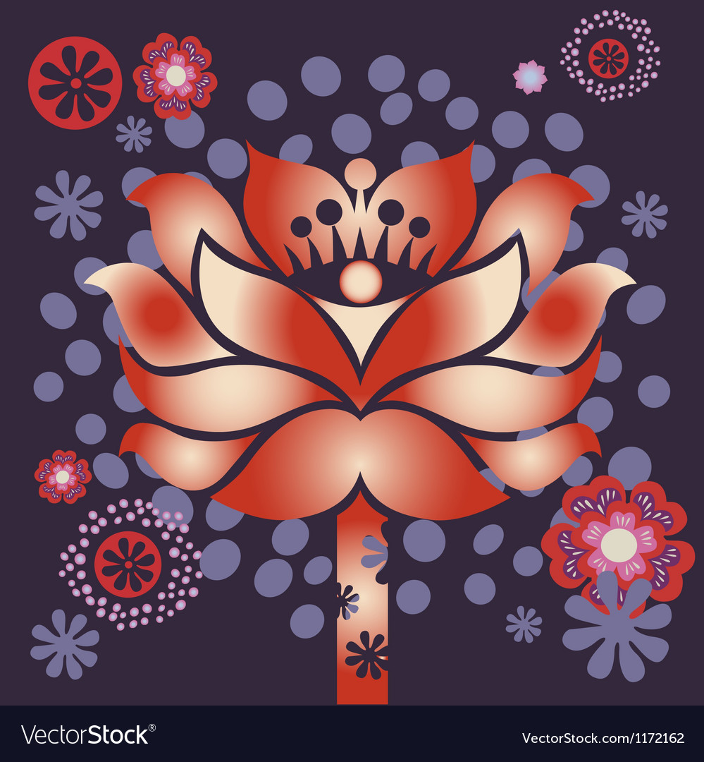 Violet blossom vector | Price: 1 Credit (USD $1)