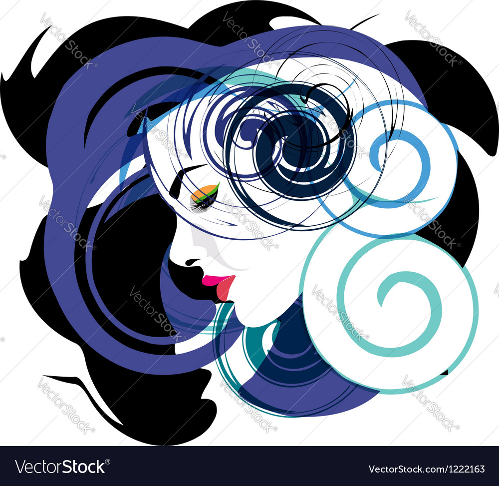 Beautiful woman face vector | Price: 1 Credit (USD $1)