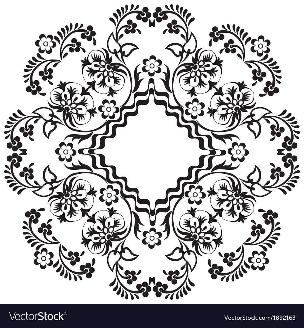 Black oriental ottoman design twelve vector   Price: 1 Credit (USD $1)