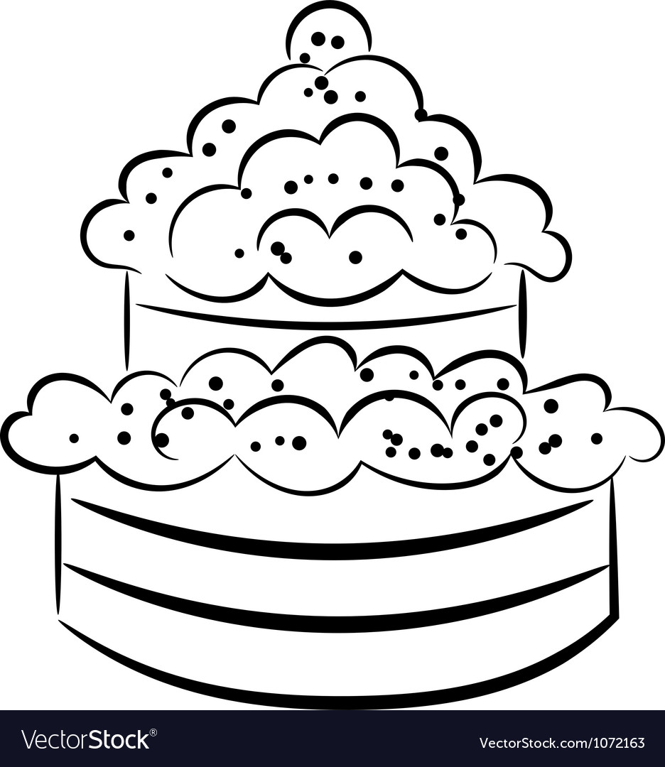 Cartoon cake eps10 vector | Price: 1 Credit (USD $1)