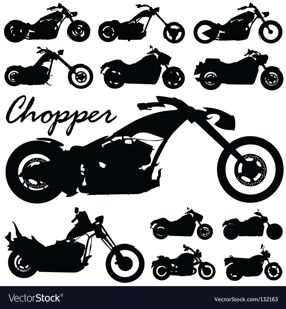 Chopper motorcycles vector | Price: 1 Credit (USD $1)