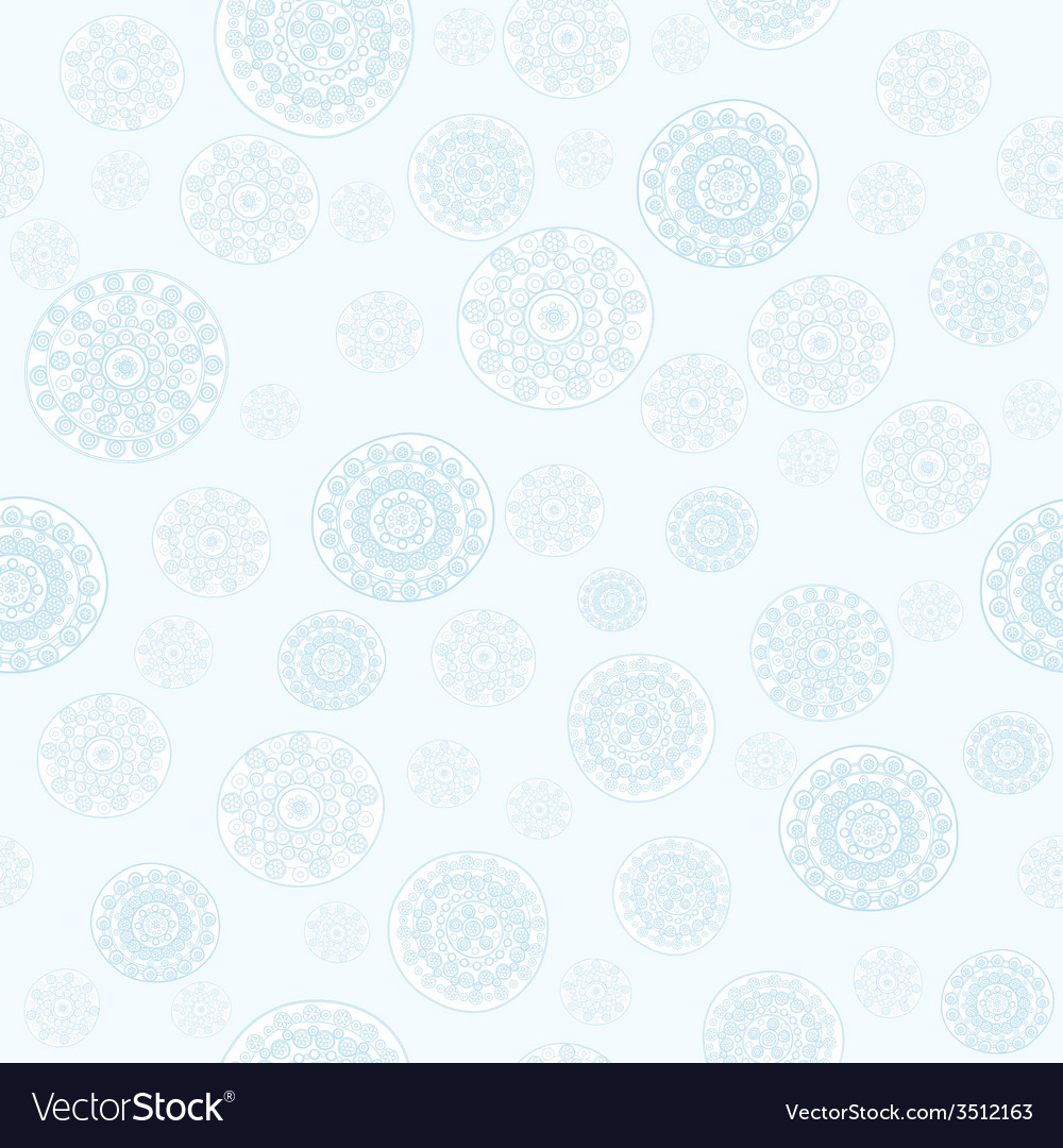 Doodle snowflakes seamless vector | Price: 1 Credit (USD $1)