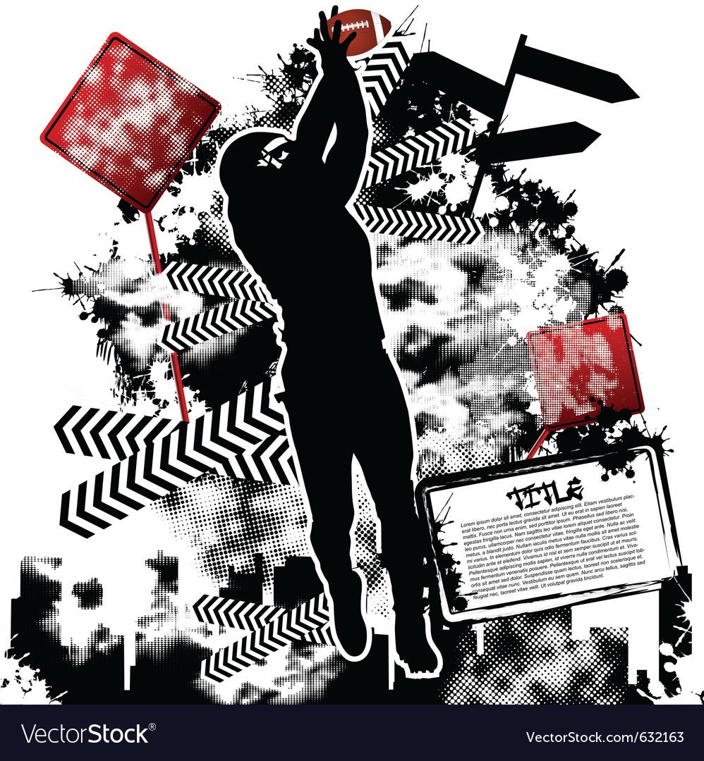 Football grunge vector | Price: 1 Credit (USD $1)