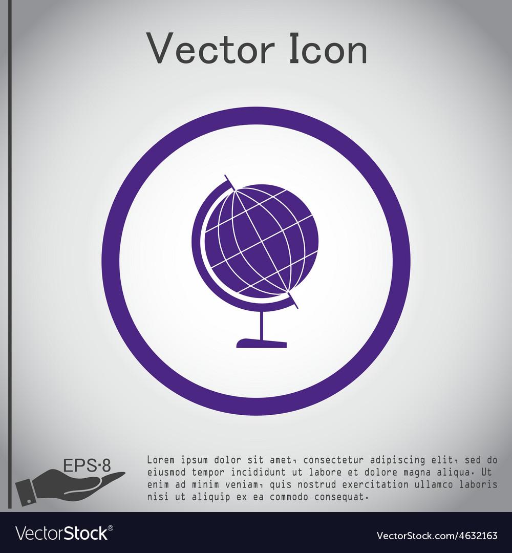 Globe symbol icon geography vector   Price: 1 Credit (USD $1)