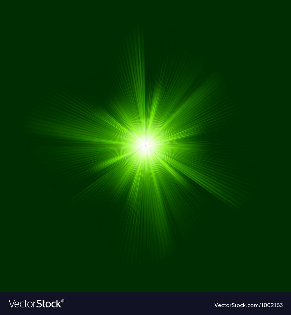 Green color design with a burst eps 8 vector | Price: 1 Credit (USD $1)