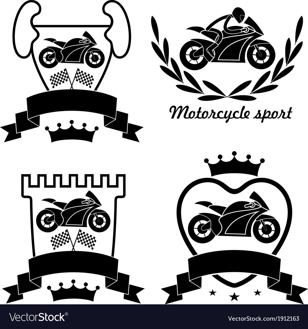 Motorcycle sport vector | Price: 1 Credit (USD $1)