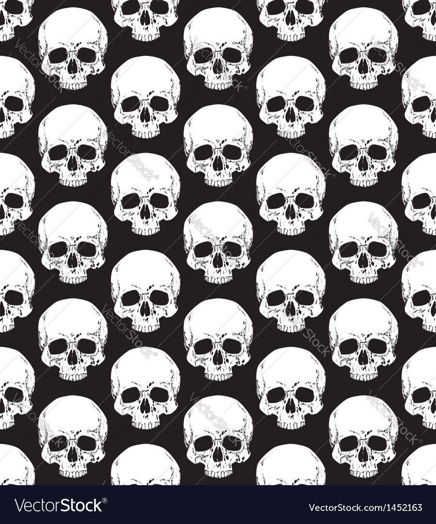 Skull pattern 2 vector | Price: 1 Credit (USD $1)