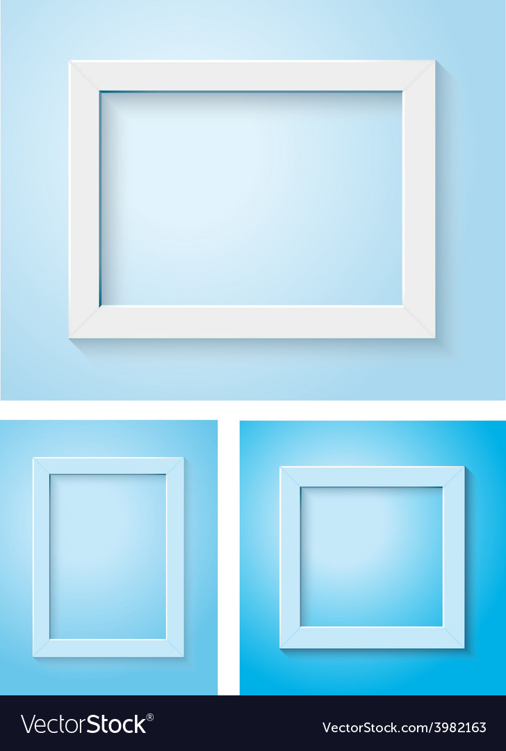 White and blue frame set vector | Price: 1 Credit (USD $1)