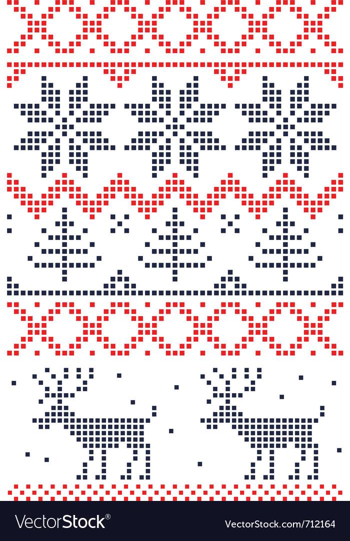 Christmas stitch vector | Price: 1 Credit (USD $1)