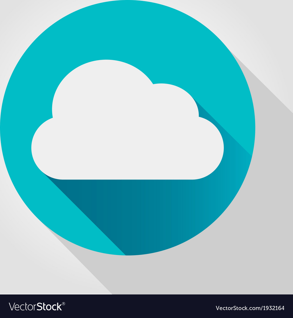 Cloud icon flat design vector | Price: 1 Credit (USD $1)