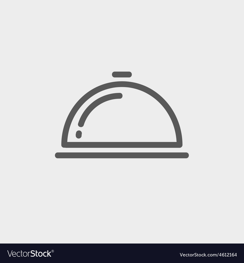 Food cover thin line icon vector | Price: 1 Credit (USD $1)