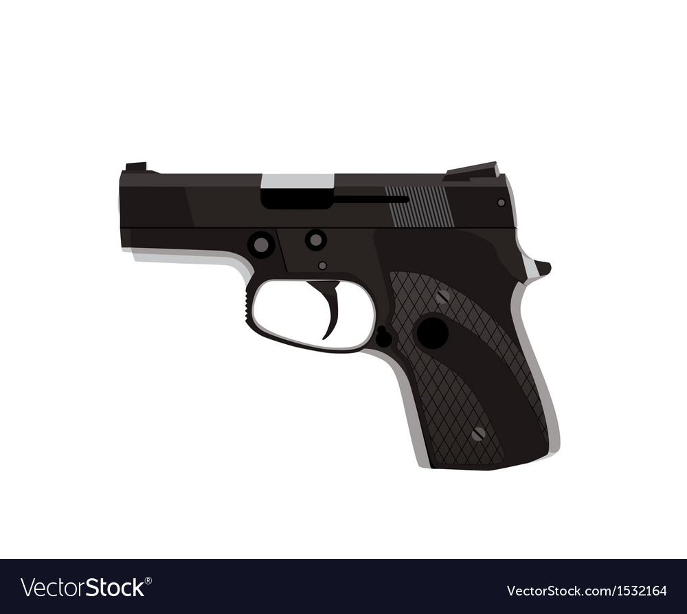 Handgun isolated on white background vector | Price: 1 Credit (USD $1)