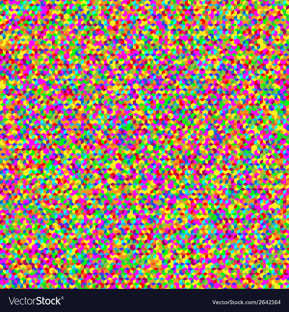 Multicolor seamless cubic texture  random vector | Price: 1 Credit (USD $1)