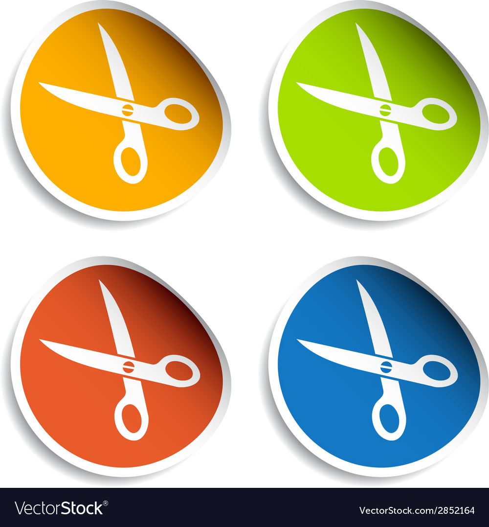 Scissors stickers vector | Price: 1 Credit (USD $1)