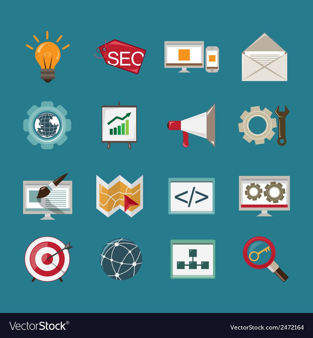 Seo icons set vector | Price: 1 Credit (USD $1)