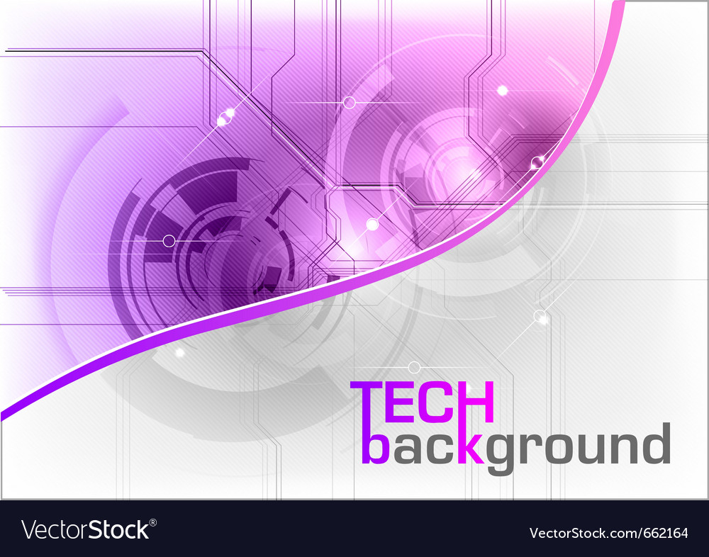 Tech background in the purple color vector | Price: 1 Credit (USD $1)