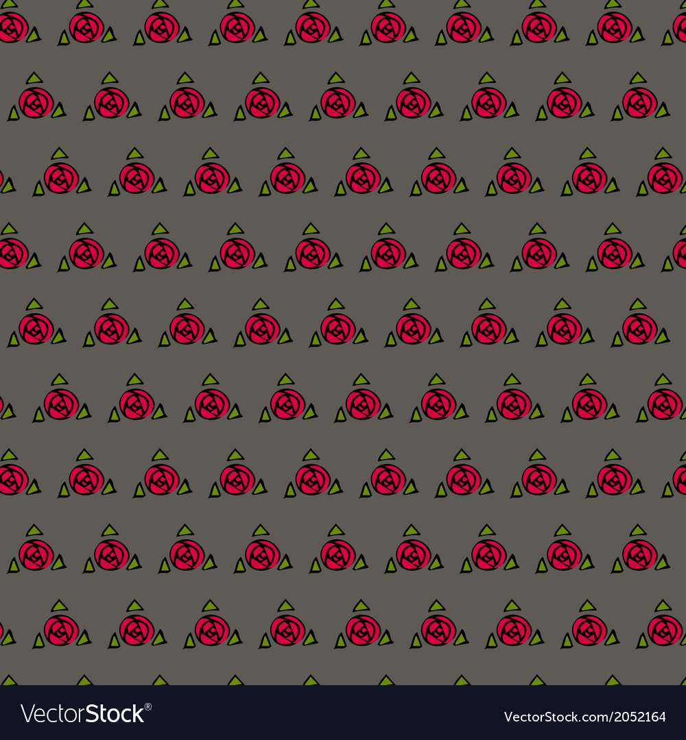 Texture with red roses vector | Price: 1 Credit (USD $1)