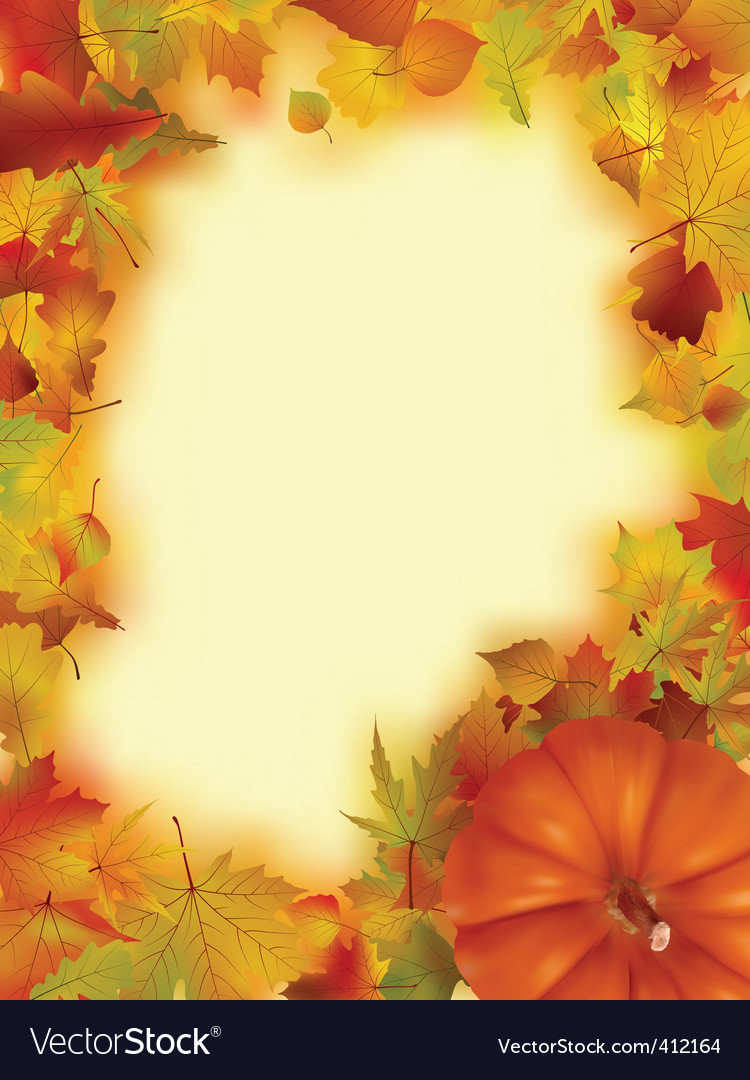 Thanksgiving holiday frame vector | Price: 1 Credit (USD $1)