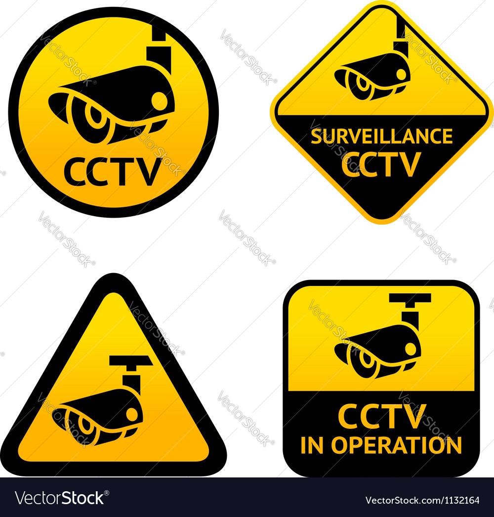 Video surveillance set signs vector | Price: 1 Credit (USD $1)