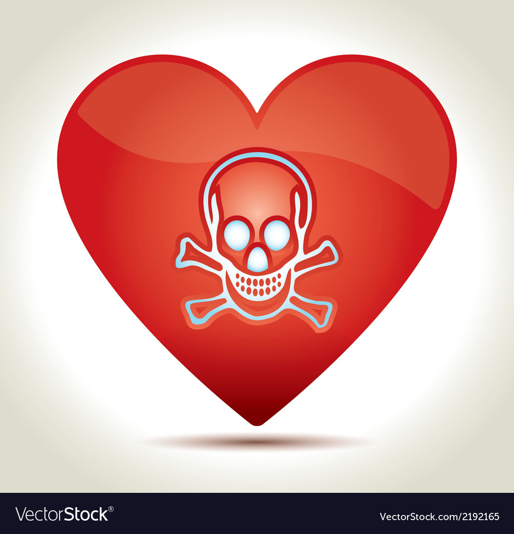 00217-heart-skull vector | Price: 1 Credit (USD $1)