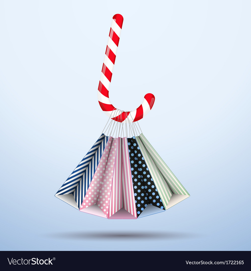 Background colorful sweet christmas shopping vector | Price: 1 Credit (USD $1)