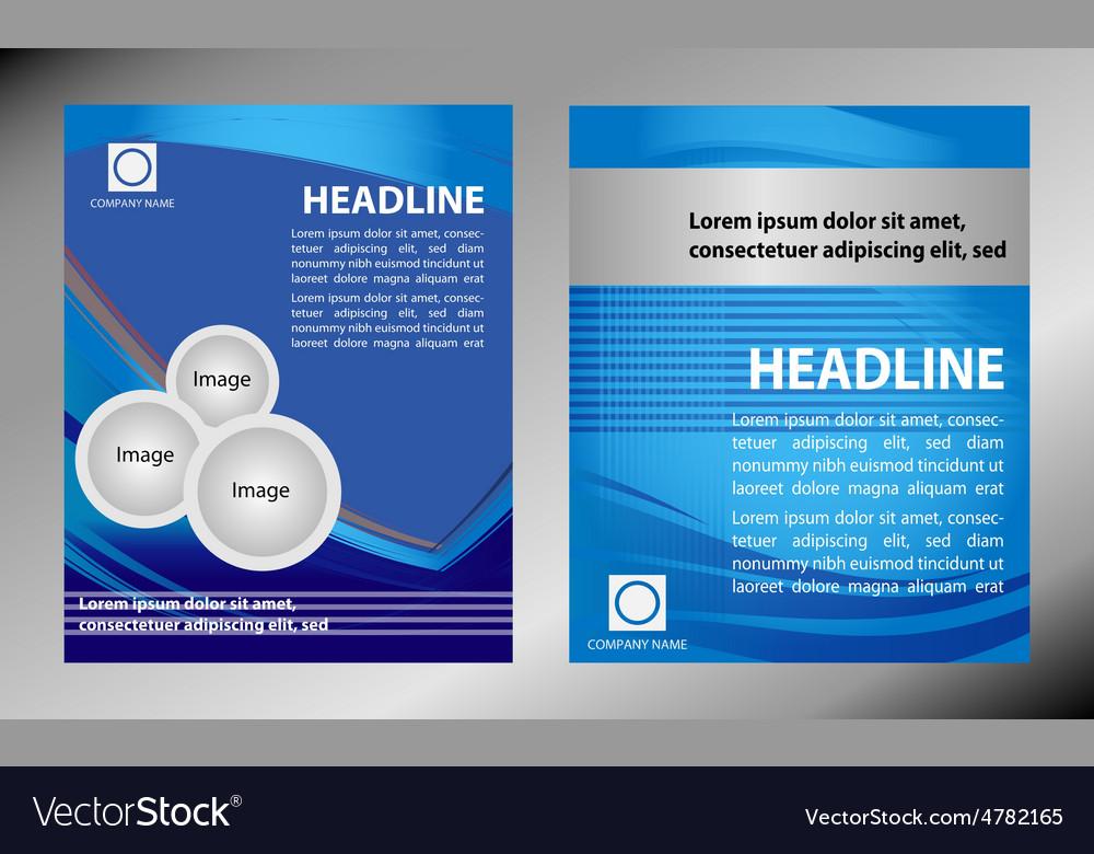 Brochure flyer magazine cover poster te vector   Price: 1 Credit (USD $1)