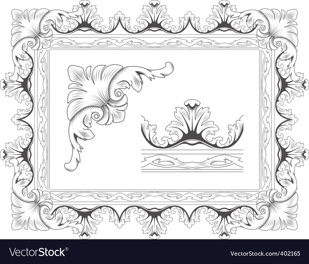 Classic frame vector | Price: 1 Credit (USD $1)