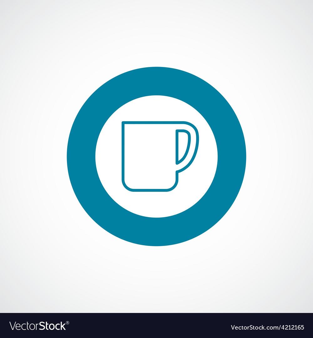Coffee cup icon bold blue circle border vector   Price: 1 Credit (USD $1)