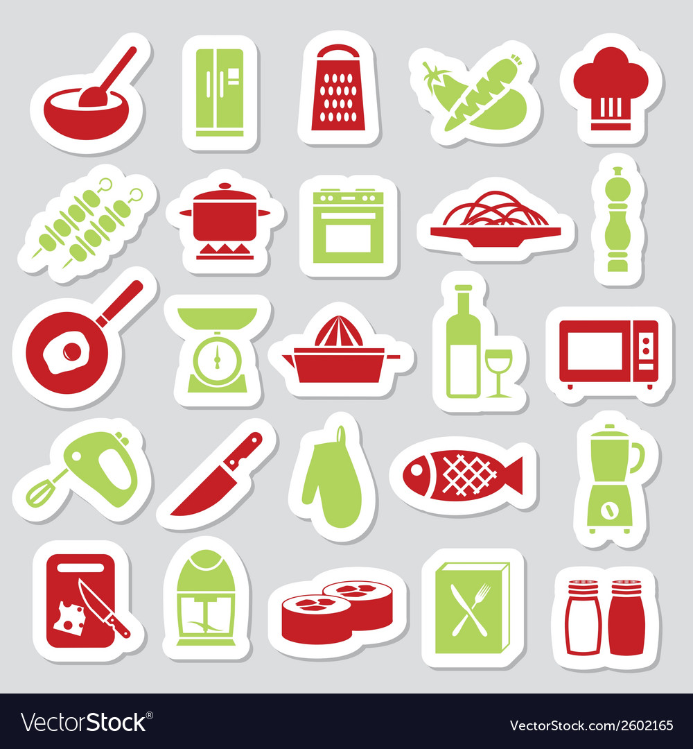 Cooking stickers vector | Price: 1 Credit (USD $1)