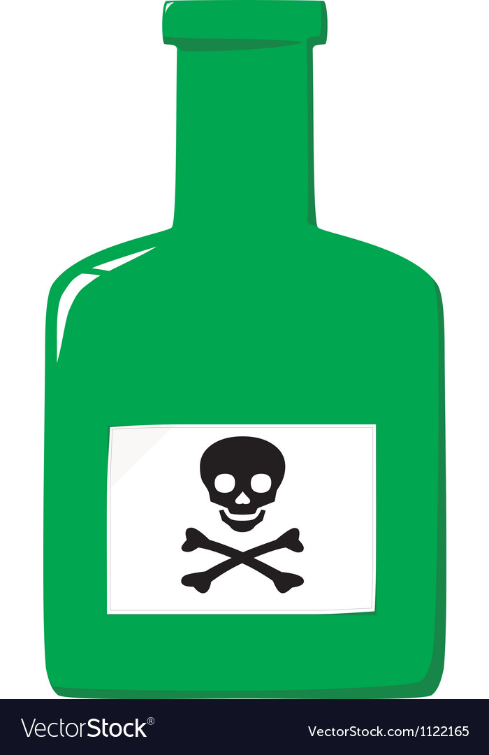 Green poison bottle vector | Price: 1 Credit (USD $1)