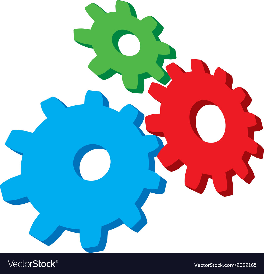 Growing gears vector | Price: 1 Credit (USD $1)