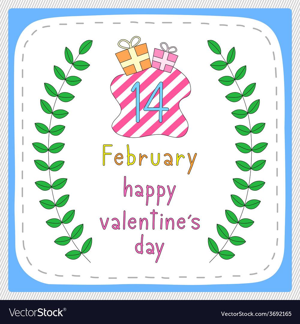 Happy valentine s day card5 vector | Price: 1 Credit (USD $1)