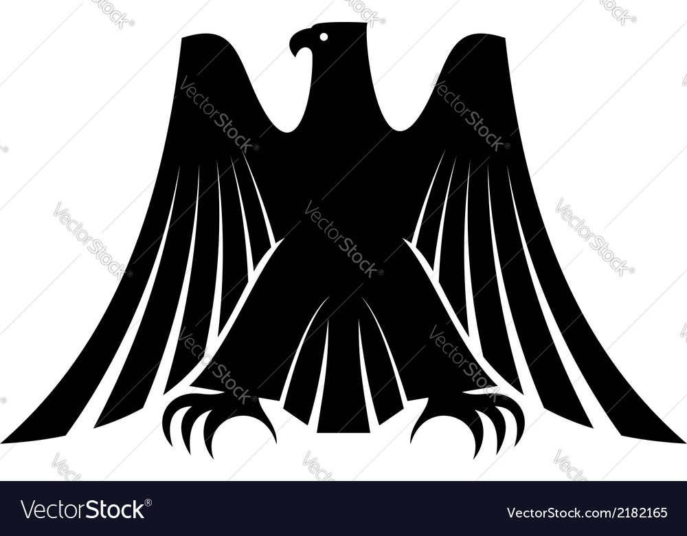 Imperial eagle with long trailing wing feathers vector | Price: 1 Credit (USD $1)